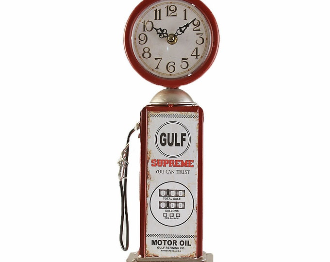 Table clock stand clock pump red size approx. 12x8x36 cm