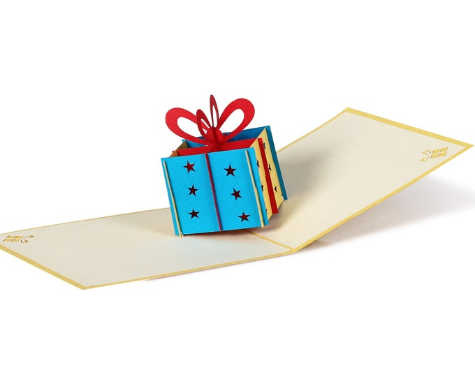 3D Pop Up Folding Card with Envelope Birthday Card Gift 2 also to use as a coupon or for a money gift