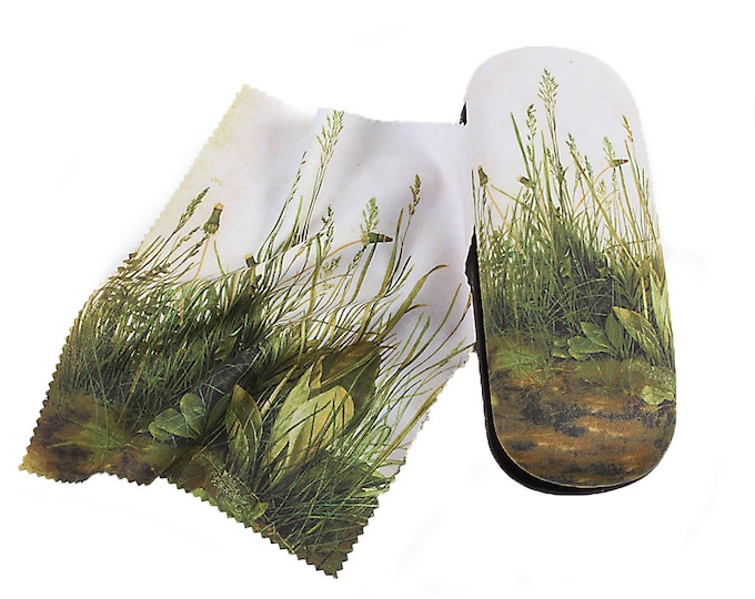 "Eyeglass case Set Albrecht Dürer ""The Great Lawn Piece"" covered with velour (micro fiber)"