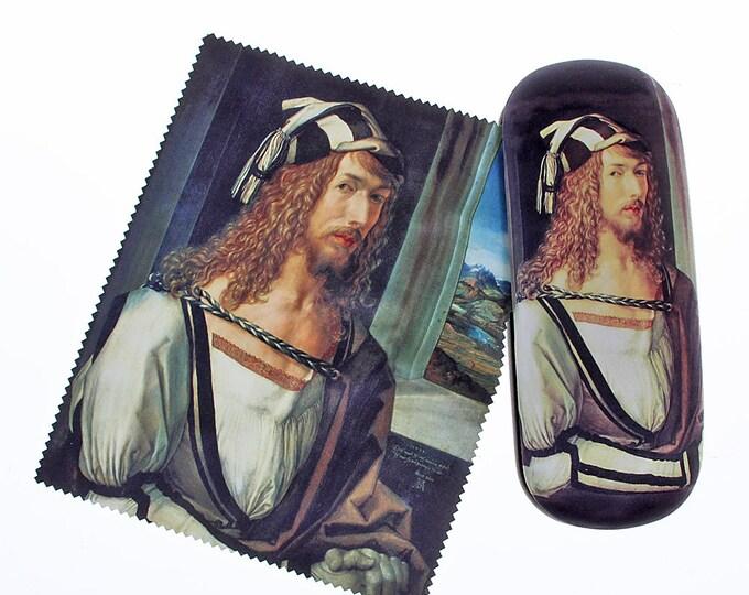 "Eyeglass case Set Albrecht Dürer ""Self-portrait 2"" covered with velour (micro fiber)"