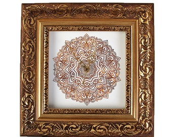 """Wall clock """"Baroque with Mandala1"""" size approx. 28 x 28 cm"""