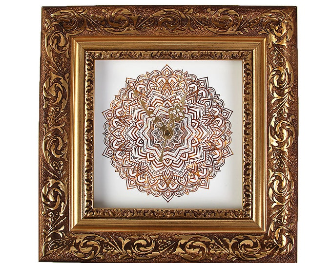 "Wall clock ""Baroque with Mandala1"" size approx. 28 x 28 cm"