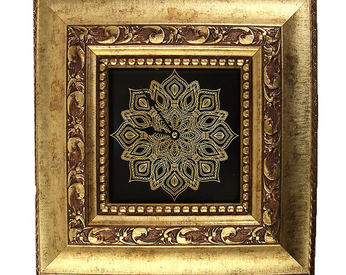 "Wall clock ""Baroque with Mandala2"" size approx. 38 x 38 cm"