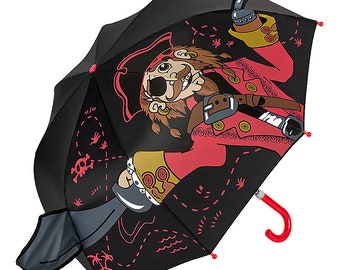 Children's umbrella FROM LILIENFELD Young girls kids pirate black