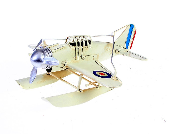 "Tin model ""seaplane"" cream nostalgia model size approx 16x15x7.5 cm"