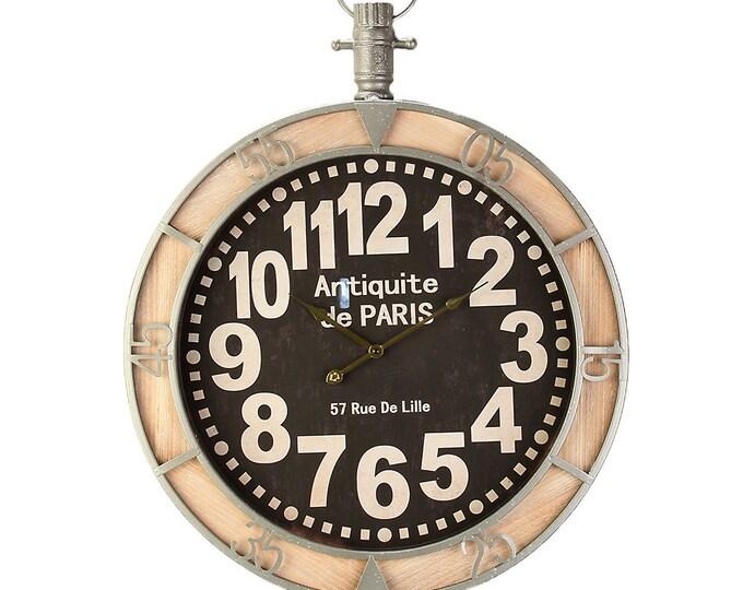 Wall clock Paris wood metal size approx. 60x7x72 cm