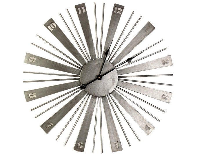 Wall clock matte silver size approx. 70x4.5 x 70 cm