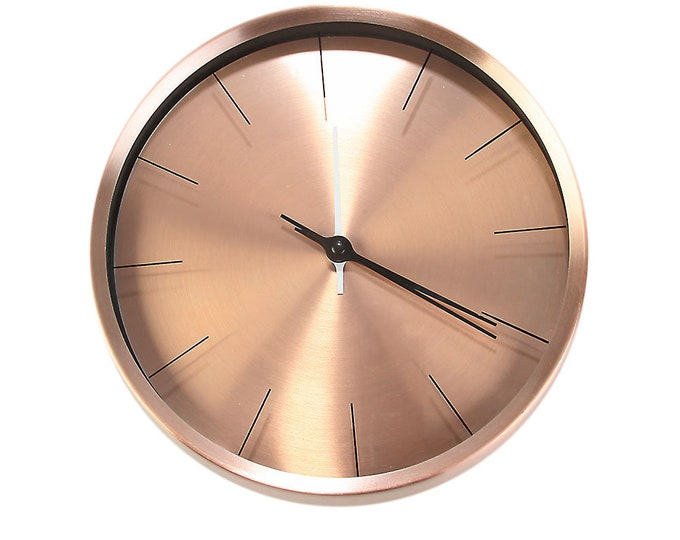 Wall clock Classic Bronze size approx. 26 x 4.8 cm