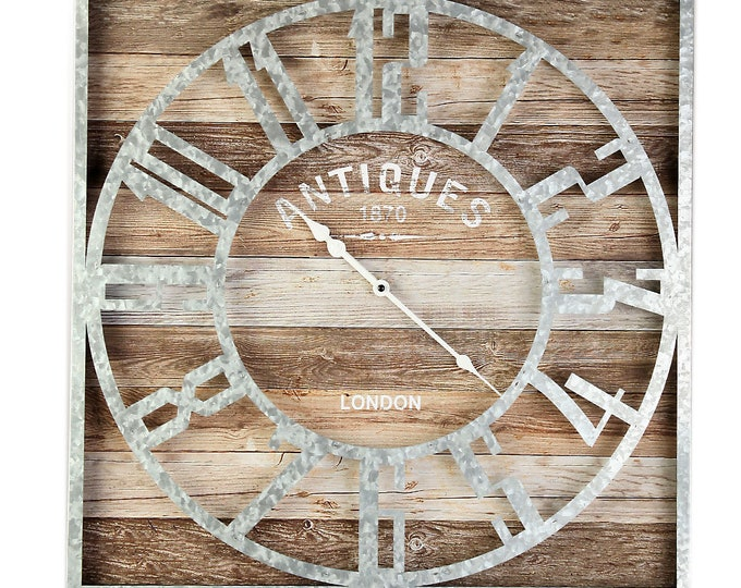 Wall clock London silver size approx. 60x5x60 cm