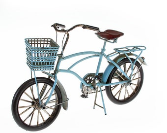Sheet metal model and picture frame bicycle blue model 3 size approx. 27x17x11 cm