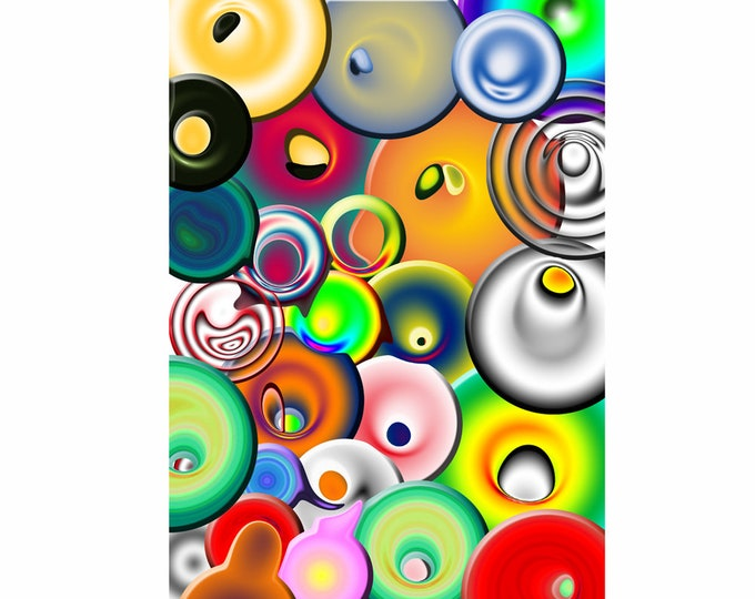 Art print Giclee Circles approx. 30.0 x 42.0 cm