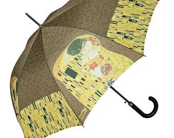 Umbrella Automatic FROM LILIENFELD Artist motif Gustav Klimt: The Kiss