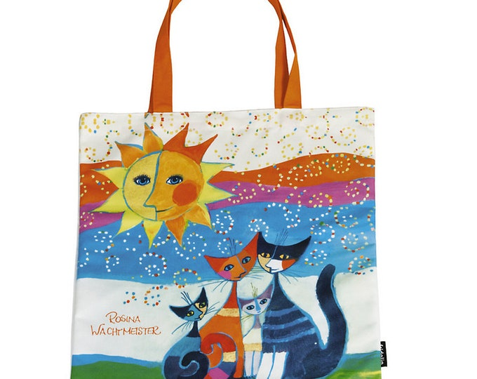 "Tote Bag Art Shopping Bag Rosina Watchman ""Momenti Di Felicita"" size approx. 38 x 40 cm"
