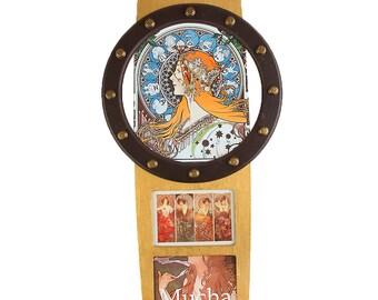 "Wall clock Alfonse Mucha ""Zodiac"""