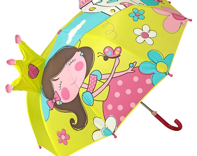FROM LILIENFELD Children's Umbrella Young Girls Kids Princess with lock up to about 8 years