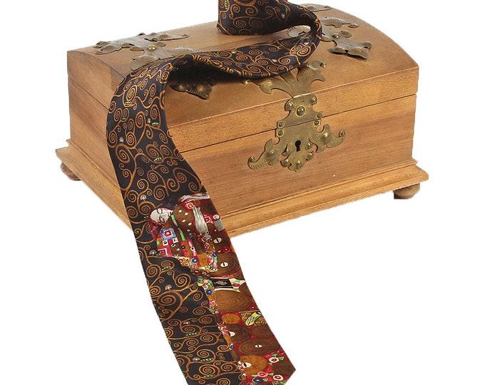 Silk tie artist tie Gustav Klimt ' fulfillment ' 100% pure silk hand-printed