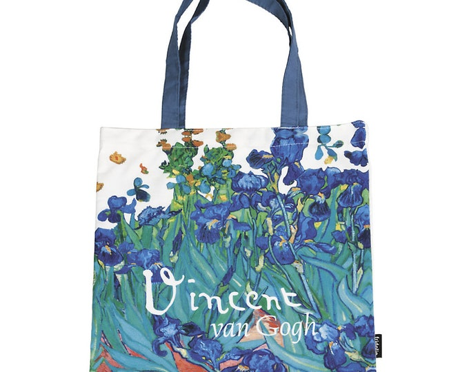 "Tote Bag Art Shopping Bag Vincent Van Gogh ""Sword Lilies"" Size approx. 38 x 40 cm"