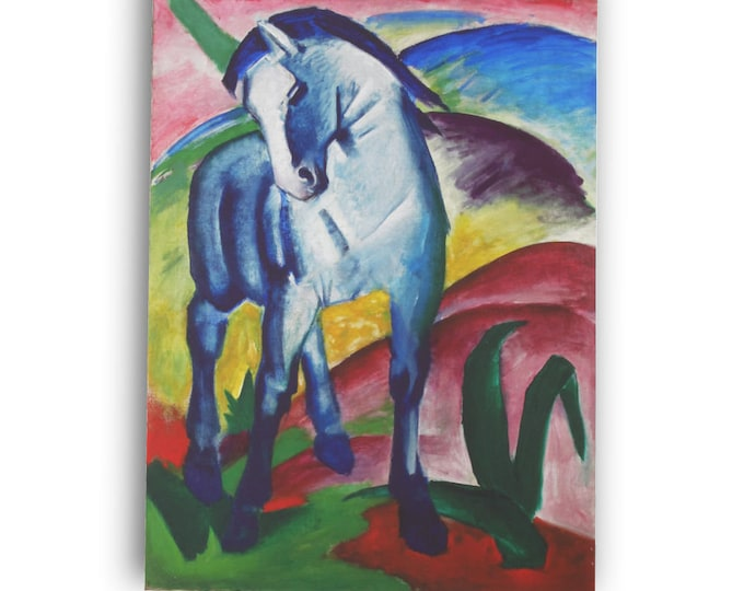 Franz Marc Blue Horse I Picture Canvas Reproduction GICLEE