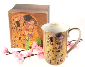 "Cup Porcelain Gustav Klimt ""The Kiss"" Queen Isabell incl. gift box"