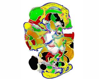 Art print Giclee Brain approx. 30.0 x 42.0 cm