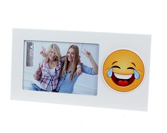 Picture frame photo frame emoji smiley laugh with tears picture size approx. 10 x 15 cm frame size approx. 25 x 13 cm