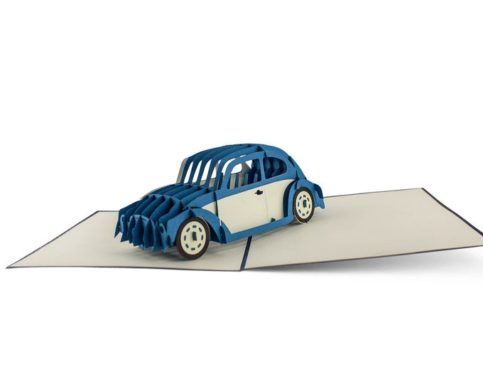 3D Pop Up folding card with envelope car also to use as a coupon or for a money gift