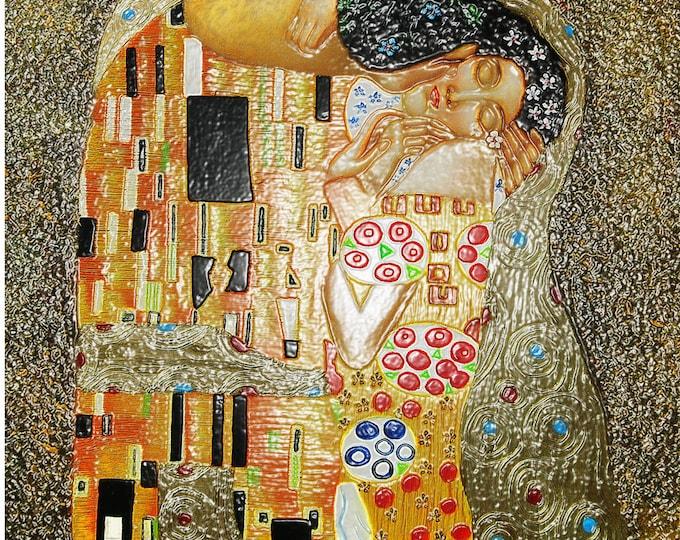 Art Print Giclee The Foil Kiss Wax Painting approx. 30.0 x 30.0 cm