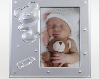 Henzo Baby Moments Baby Frame Bear Size approx. 12 x 12 cm Picture size approx. 7 x 10 cm
