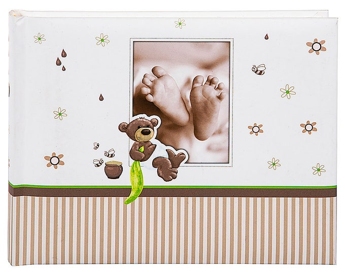 Photo album Goldbook Honey bear self-adhesive 36 pages for 36 photos in the size 10 x 15 cm or 36 photos in 13 x 18 cm album size approx. 16 x 22 cm