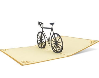 3D Pop Up folding card with envelope bike also to be used as a voucher or for a money gift