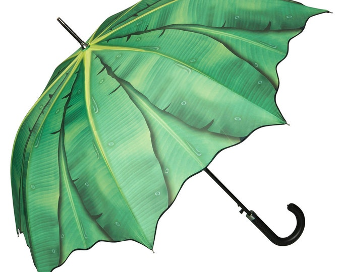 FROM LILIENFELD Umbrella Automatic Banana Leaf
