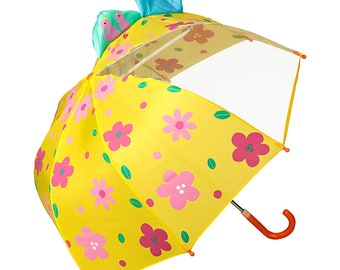 Children's umbrella FROM LILIENFELD Young girls kids flower meadow up to approx. 8 years
