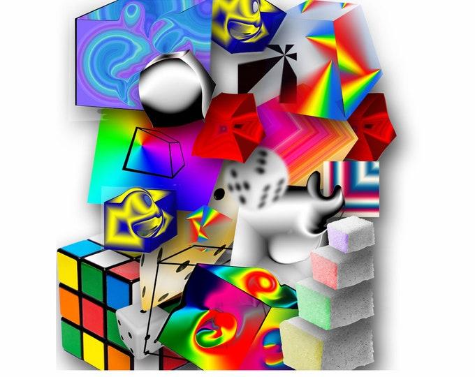 Art print Giclee Cube approx. 30.0 x 42.0 cm