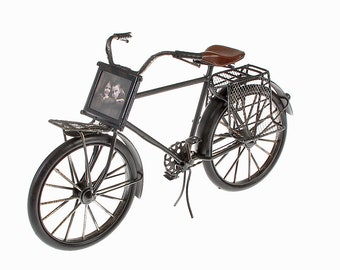 Sheet metal model and picture frame Bicycle Black Model 1 size approx. 28.5x17x10.5 cm