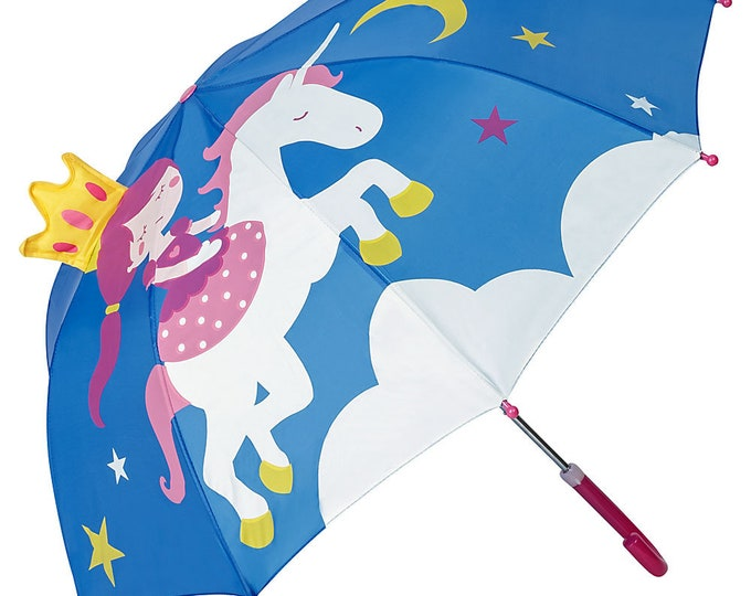 FROM LILIENFELD Children's Umbrella Young Girls Kids Princess with Unicorn up to about 8 years