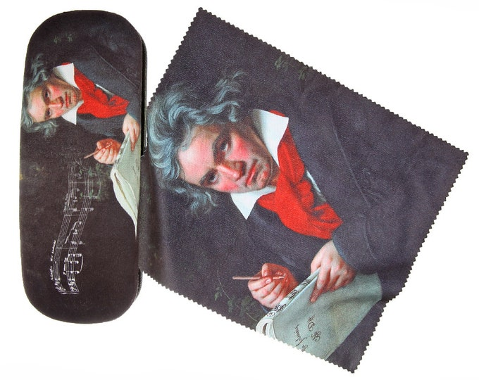 "Glasses Case Set ""Ludwig van Beethoven"" with Velour"