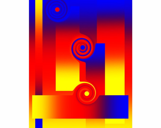 Art print Giclee Arrows approx. 30.0 x 42.0 cm