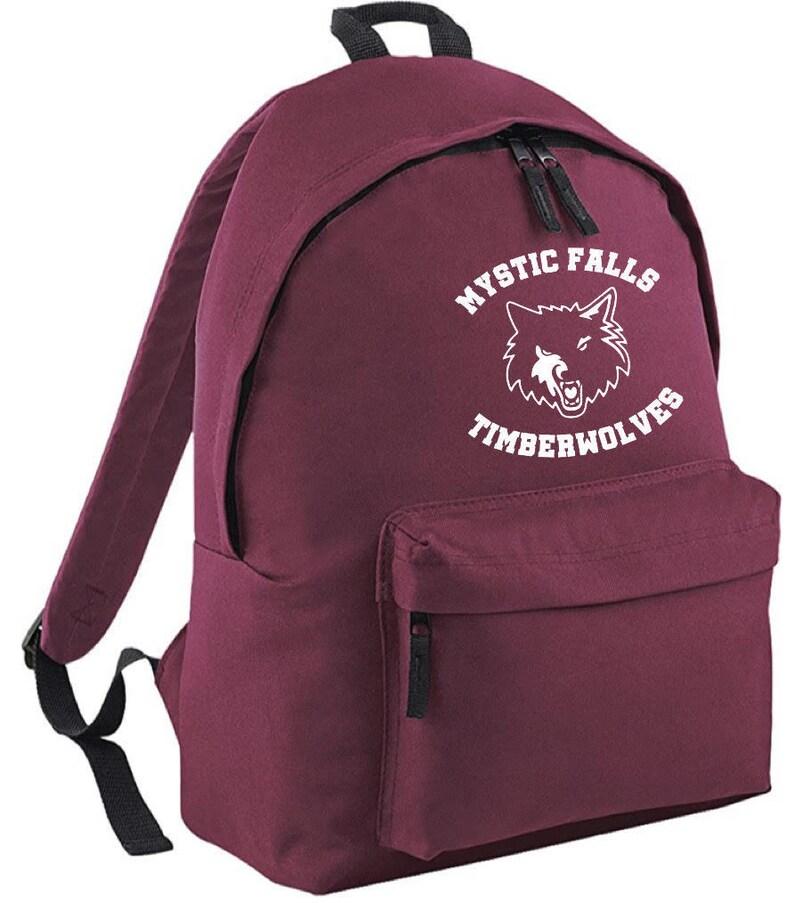 Vampire Diaries inspired Backpack Timberwolves