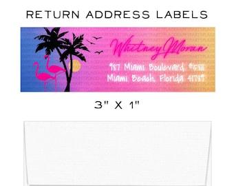 Miami beach sticker | Etsy