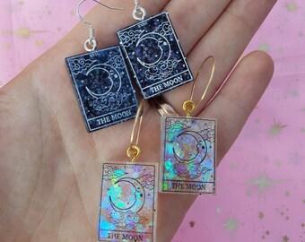 Tarot Card Moon Earrings