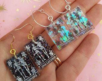 The Lovers Tarot Card Earrings