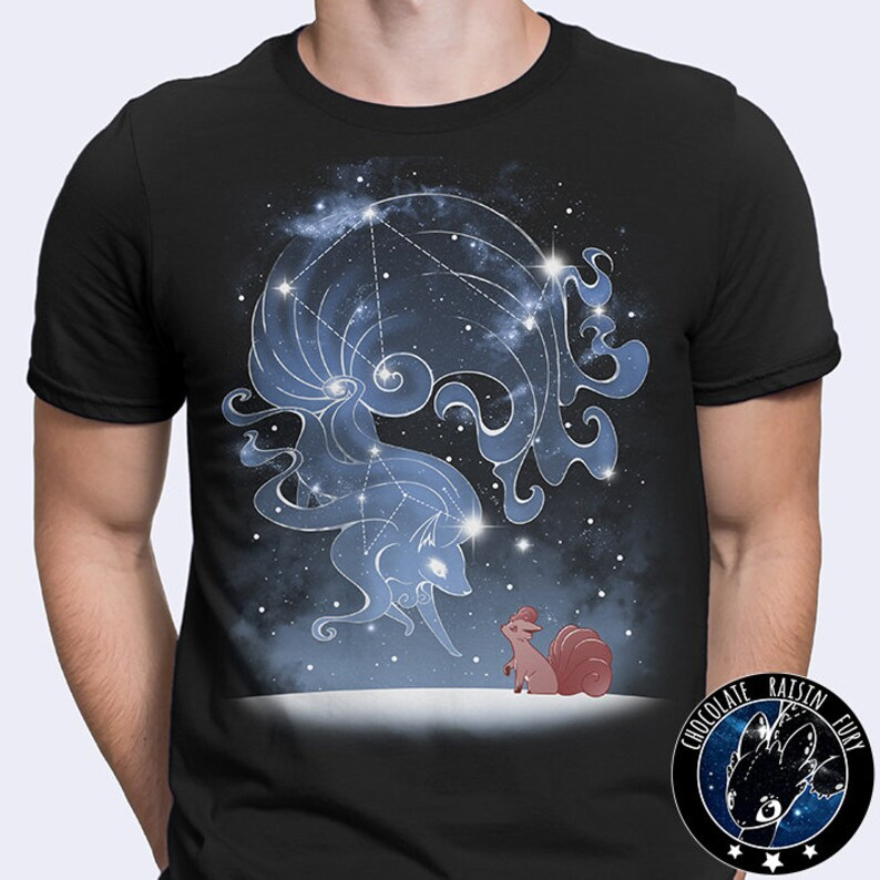 b74b1fb5 Starry Alolan Sky Ninetales Tee Pokemon tee Alolan Tee | Etsy
