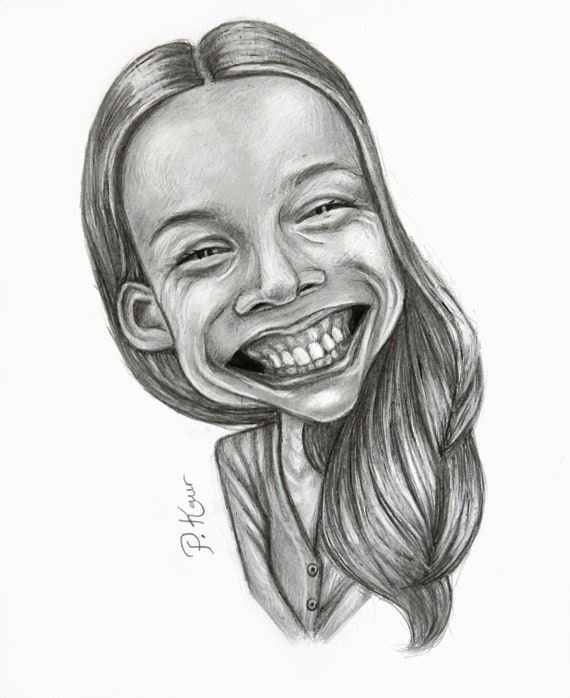 Custom Caricature Drawn from Photos