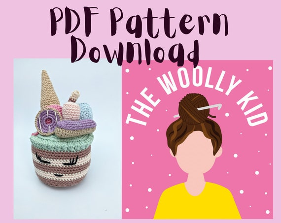 Cute and modern toy cake crochet pattern
