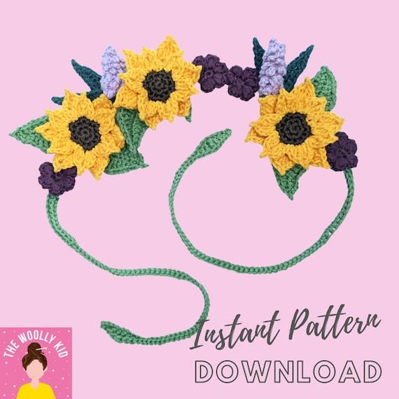 Fast Easy Flower Crown Tutorial Crochet Pattern