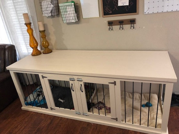Double Dog Crate Furniture Large Etsy