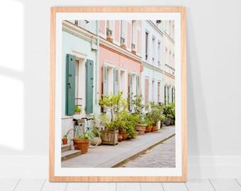 Great Rue Crémieux Fine Art Print / Paris Wall Art / Blush French Home Decor /  Pink Travel Photography / Minimalist Home Decor