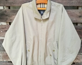 d857844cef34c Vintage Burberry s Harrington Style Lightweight Men s Golf Jacket Great to  Excellent Condition Fits M L