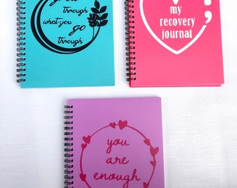Mental Health Recovery Journal Notebook and Pencil