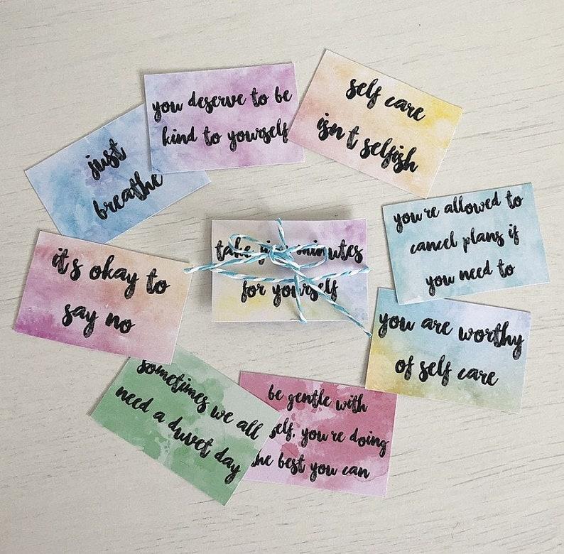 10 Self Care Cards image 0